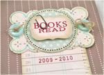 Cover detail, 2009-2010 Books Read Mini Album