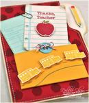 Thank You Teacher Folder Card Detail