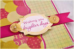 Detail of Wishing You Brighter Days card