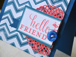Navy Hello Friend Detail