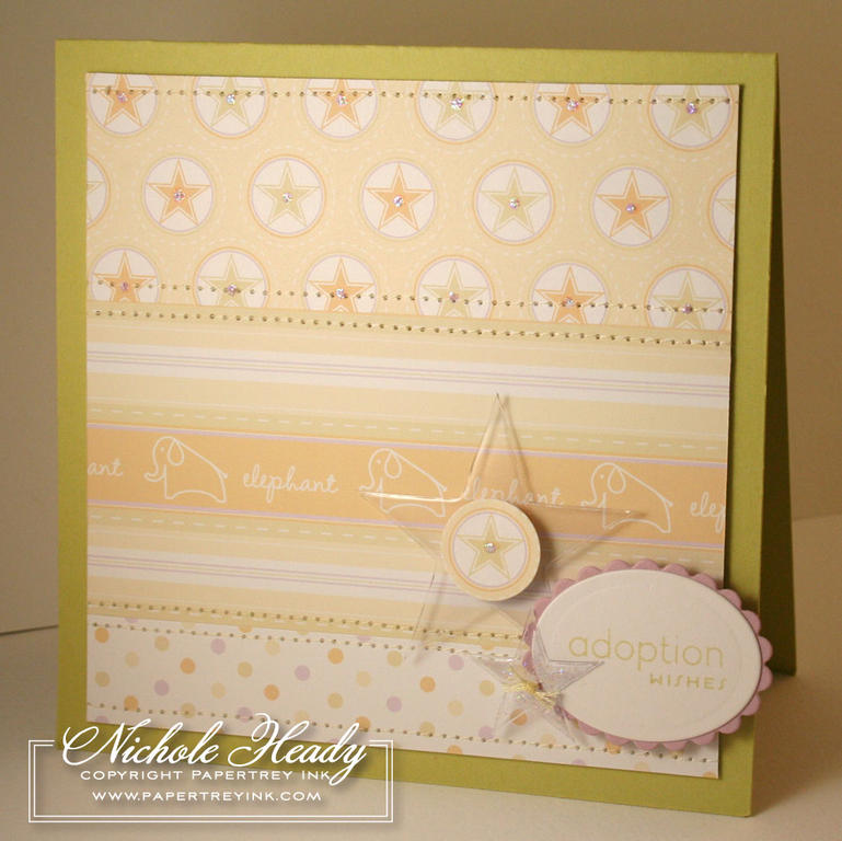 Adoption Sparkle Star Card