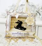 Snowflakes Sparkle Framed Ornament