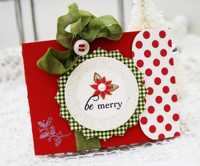 Be Merry Gift Card Holder