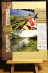 Canoe Adventure Scrapbook Page