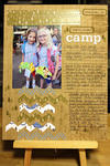 Girl Scout Camp Scrapbook Page