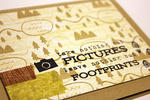 Pictures & Footprints Card - detail