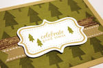 Woodsy Celebrate Card - detail