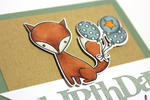 Foxy Birthday Wishes Card - detail