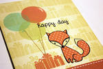 Happy Day Foxy Card - detail
