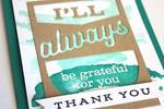 Grateful Thanks Card - detail