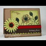 Amy Rysavy - Thank You For Being a Friend Card
