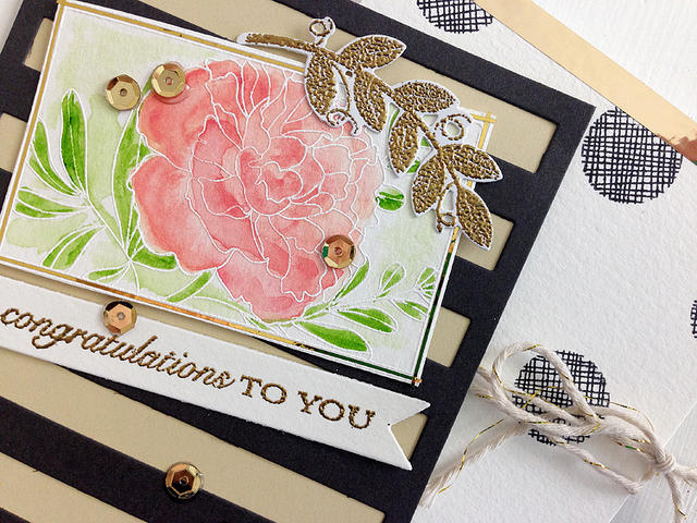 Congratulations to You card - detail