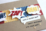 Wow! Zap! Bam! Birthday Card - detail
