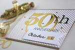50th Anniversary Card - detail