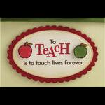 Teacher's Apple Gift Box Front Detail
