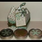 Warm Happiness - small gable box beverage treat tins