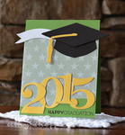 Green & Gold Happy Graduation Card