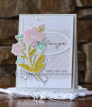 Brushed Blooms Card