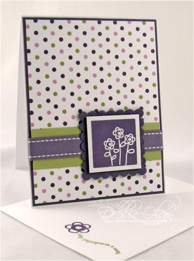 Boxed Flower Trio card