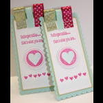 Love Songs-Valentine Bookmarks