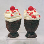A Sweet Treat for Two close up of Sundaes