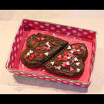 Two Hearts One Love Brownies close-up