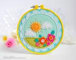 Kay Miller - Hoopla:Stitched Sunshine Dies