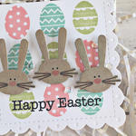 Happy Easter Bunny Card - detail