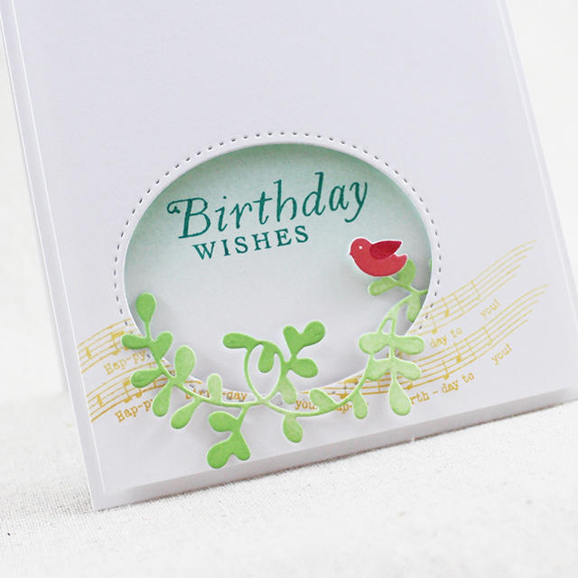 Birdy Birthday Wishes Close Up