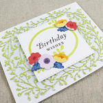 Floral Birthday Wishes Card Flat