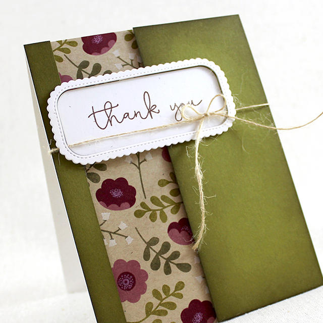 Ivy & Bloom Thank You Card Close Up