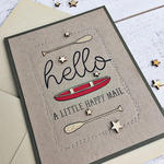 Hello Happy Mail Card - detail