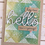 Hey There Hello Card - detail
