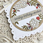 Birthday Wishes Card - detail