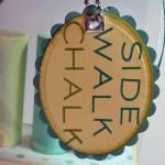 Pond Life Side Walk Chalk Holder -  view of tag
