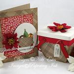 Holiday card and basket