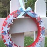 Patriotic Wreath - Fence