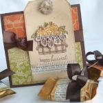 Happy Harvest card and caramels