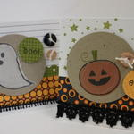 "3-3/4"" Square Halloween Cards"