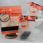 Boo! card and treat bags