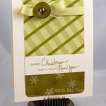 Hand Stamped Plaid card