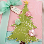 Detail of Tree Trimming Trio card front