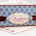 Gift Card with Signature Christmas and my Poinsettia scraps