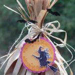 Witch's Broomstick Favor Bag (close-up)