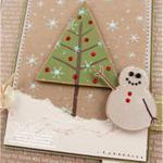 Snowman Peace Card detail