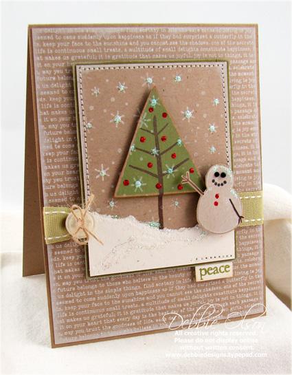Holiday Tree card using Background Basics Text Style II