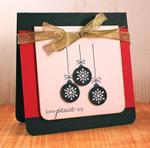 Love Peace Joy ornaments