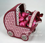 baby carriage party favor