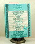 Things I Love About You birthday card