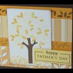 Close Up Fathers Day Card Tree